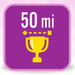 50 Mile Badge Fitbit