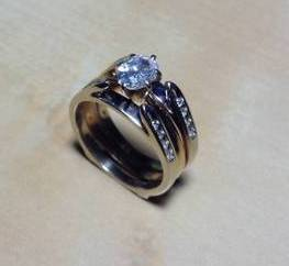 vintage oval diamond ring engagement set solitaire 14k plus wrap women - Ebay Wedding Rings